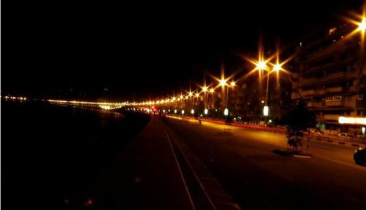 The beautiful street lights