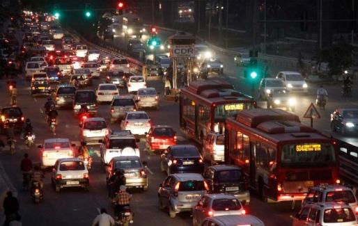 Traffic on the roads